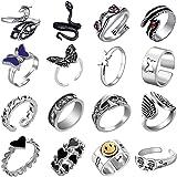 Jahrgang gotisch Ring paar Männer Punk Silberne stapelbare Tierknöchelringe für Damen Bausatz Bulk