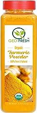 Geo Fresh Organic Turmeric Powder (425g) - USDA Certified