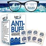 Netoa ® lingettes anti-buée anti fog pack de 120 pièces pour tous types de verres, lunettes de vue, solaires, natation…