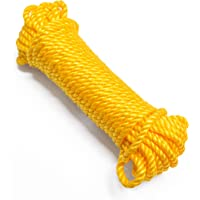 Jayshree Rope 6 MM Nylon Clothing Line String, Rope for Clothes Drying, Twisted Multi Ferrous Multipurpose Outdoor…
