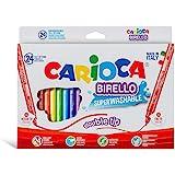 Carioca Pennarelli Birello Box | Scatola con Pennarelli Doppia Punta Super Lavabili, Pennarelli Punta Fine e Punta Media, Col