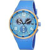 Swatch Reloj Digital para Hombre de Cuarzo con Correa en Silicona SUSN413