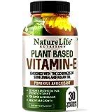 Nature Life Nutrition Plant Based Vitamin E Oil Capsules for Face & Hair – 30 Veg Capsules