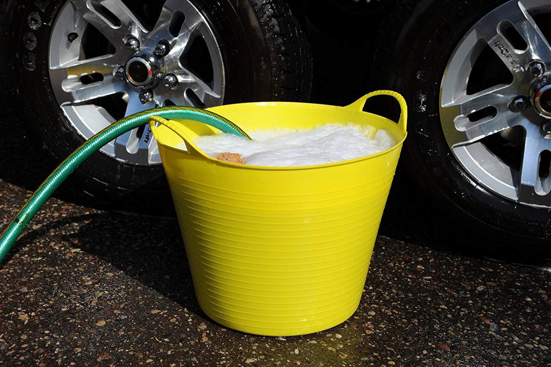 45x45x33 cm Dicoal SP42Y Tubtrugs Cubo Flexible Amarillo 42 litros
