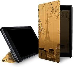 caseable leichte Hülle für Fire 7-Tablet (7. Generation – 2017 Modell), Paris (mit Standfunktion und Auto Schlaf/Wach Funktion)