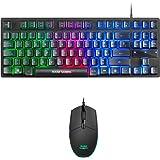 Mars gaming MCPTKL, klawiatura gamingowa H-Mech z zestawem myszy, 3200DPI, układ ES