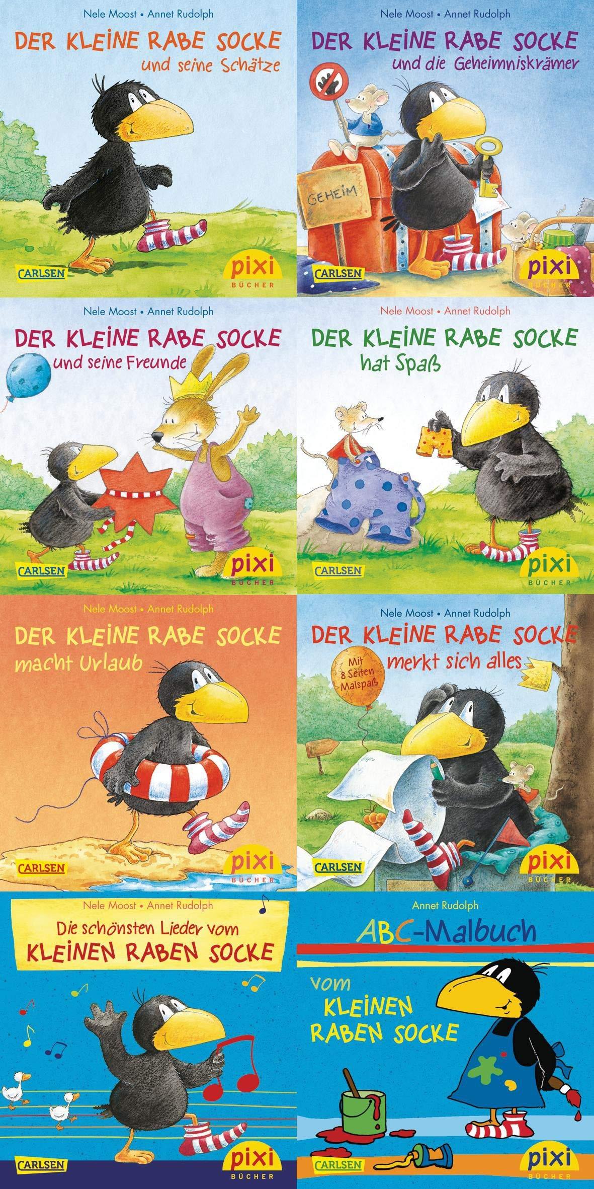 Pixi-Bundle 8er Serie 193: Der kleine Rabe Socke (Pixi-8er-Set, Band 193)