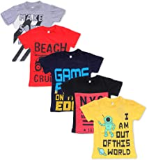 T2F Boys Printed Tshirt (Pack of 5)