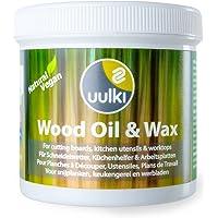 Uulki Entretien Naturel du Bois (250 ML) – 100% à Base de Plantes/Vegan – Huile et Cire 2 en 1 pour Planches à découper…