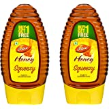 Dabur Honey :100% Pure World's No.1 Honey Brand with No Sugar Adulteration, Squeezy Pack - 225g (Buy 1 Get 1 Free)