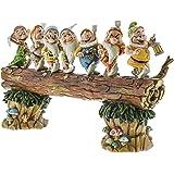 """Disney Traditions, Figura de los 7 enanitos de """"Blancanieves"""" yendo a trabajar, para coleccionar, Enesco"""