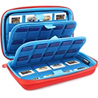 momen 72 games storage bags protective case game case.SD memory card sleeve accessories collection, 2DS 3DS storage bag case organizer.