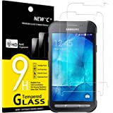 NEW'C 2 Unidades, Protector de Pantalla para Samsung Galaxy Xcover 3 SM-G388F, Antiarañazos, Antihuellas, Sin Burbujas, Durez