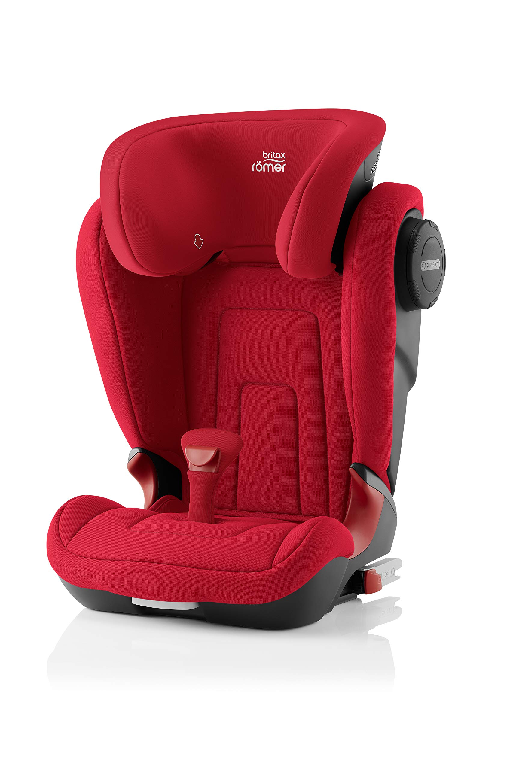 Britax Römer KIDFIX² S Group 2-3 (15-36kg) Car Seat - Fire Red Britax Römer Advanced side impact protection - sict offers superior protection to your child in the event of a side collision. reducing impact forces by minimising the distance between the car and the car seat. Secure guard - helps to protect your child's delicate abdominal area by adding an extra - a 4th - contact point to the 3-point seat belt. High back booster - protects your child in 3 ways: provides head to hip protection; belt guides provide correct positioning of the seat belt and the padded headrest provides safety and comfort. 1