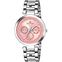 Swisstone SW-L161-PNK Stainless Steel Chain Pink Dial Analog Wrist Watch for Women