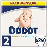 Dodot Pannolini per bebè Sensitive, taglia 2 (4-8 kg), 240 pannolini, ottima protezione della pelle di Dodot, confezione mens