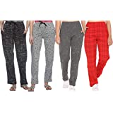 SHAUN Women's Regular Fit Trackpants (Pack of 4)