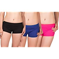 Eve's Beauty Multicolour Boy Short Panties-Pack of 3