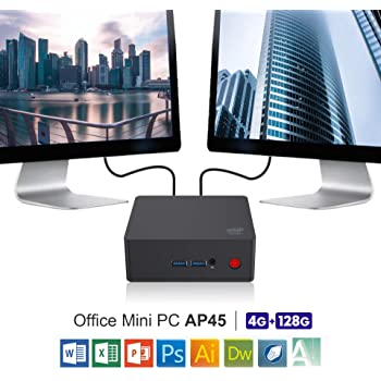SeeKool AP34 Pro Mini PC, Windows 10 MINI Computer,Intel Apollo Lago N3450 Processore HD Graphics 500 DDR3 6 GB / 64 GB, 4K/1000Mbps LAN/5.8G+2.4G WiFi/Dual HDMI 2.0/USB 3.0/BT 4.0