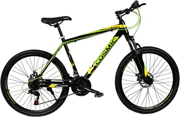 Cosmic Nondo 21 Speed Special Edition Steel MTB Bicycle (Black/Green)