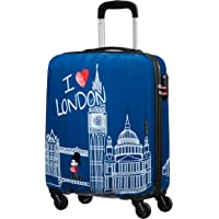 American Tourister Disney Legends Spinner S Bagage Cabine Enfant, 55 cm, 36 L, Bleu (Take Me Away Mickey London)