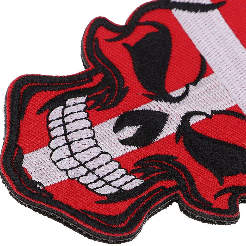 FLAMEER Schädel Flagge Patches Bügelbilder Aufkleber mit Klettverschluss für Shirts Jeans Applique DIY Handwerk - Japan…