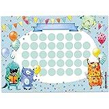Zestaw wykresu nagród dla dzieci w formie wydzieranki 10 arkuszy - motywująca koncepcja - ze wspaniałymi naklejkami dla chłop