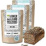 Organic Workout LOWER-CARB-BROT-BACKMISCHUNG 3er Pack - 100% Bio | paleo | glutenfrei | eiweissbrot | ballaststoffreich |ohne Zuckerzusatz | ohne Getreide | hergestellt in Deutschland