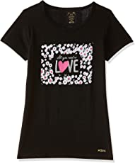 Dixcy scott Slimz Girls' Starred Regular Fit T-Shirt