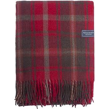 The Tartan Blanket Co. Couverture Recyclée en Laine – Style Tartan écossais  Dark Maple 5482bae9a5d