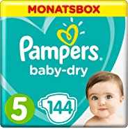 Pampers Baby-Dry Windeln, Gr. 5, 11kg-16kg, Monatsbox (1 x 144 Windeln)