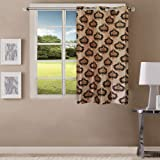 Queenzliving Mosaic Curtain, Window 5 feet- Pack of 1, Brown