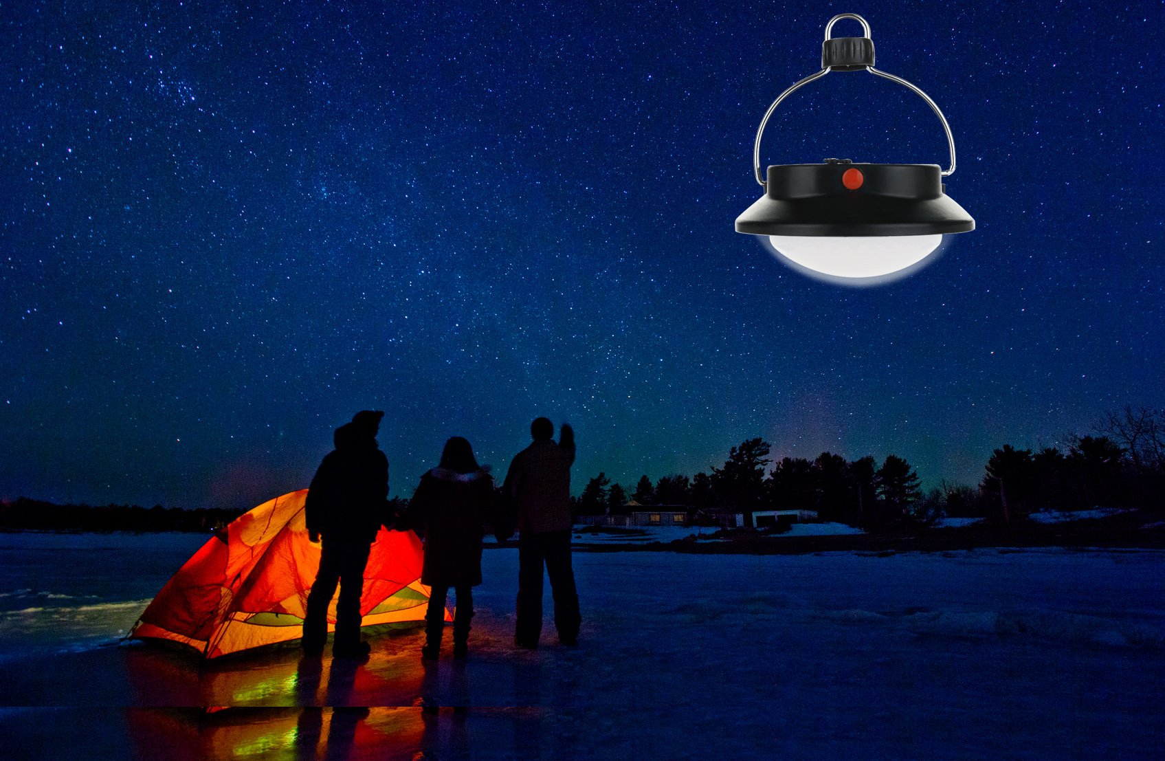 SUBOOS Ultra Bright Portable LED Tent Light - The 60 LED Camping Lantern - Great Lamp for Hiking, Camping, Patio…