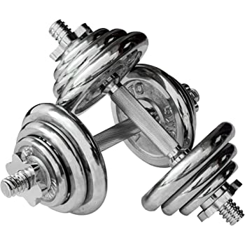Viavito Unisex's Dumbbell Set-Chrome, 20 kg