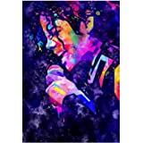 WOODOYS ; WE DESIGN EVERYTHING Michael Jackson Canvas Painting Wall Art for Living Room Bedroom Home Decorations 24 inch X 36