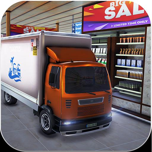 Fahren Sie durch Supermarkt-Frachttransport-LKW-Fahrsimulatorspiel 2019: Registrierkasse Einkaufszentrum Autofahrer & Stapler - Lkw Lebensmittelgeschäft