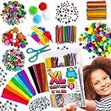 Fournitures d'art et de bricolage pour enfants - 1250+ Pcs Fourniture d'artisanat pour les tout-petits, Fournitures Éducative