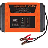 BLACK+DECKER BC25-B2 4/12/25 Amp 3 Speed Automatic Battery Charger & Manual Control