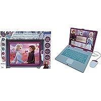 Lexibook- Disney Frozen La Reine des Neiges 2-Ordinateur Éducatif Bilingue Française/Anglais-Jouet Filles avec 124…