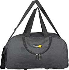 Nice Line Black Polyester 50 litres Inch Travel Duffle Bag/Trolley Bag/Cabin Luggage