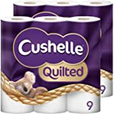 Cushelle Quilted 9 Roll Toilet Roll Tissue Paper (2 Packs (18 Rolls))