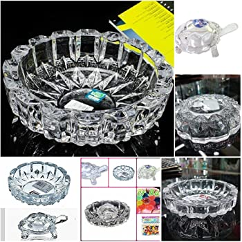 Supermall New Imported Glass Crystal Tortoise In Plate 4X4 Inch Fang Shui Vastu Set - Best Gift For Career And Luck