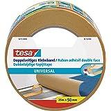 tesa Dubbelzijdige Tapijttape Universal - Multifunctionele vloertape, ook voor hobby's - Vloerbedekkingstape voor tapijt - Br
