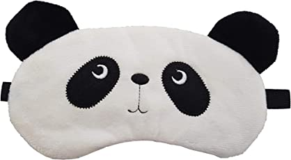 Jenna Fur Panda Sleeping Eye Mask for Insomnia, Meditation, Puffy Eyes and Dark Circles