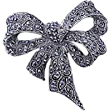 Sprießen Broche De Diamantes De ImitacióN para Damas Vintage, Broche Negro Broche De Broche, JoyeríA De Moda, Accesorios De V