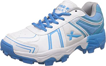 Vector X Target Cricket Shoes (White-Sky Blue)