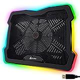 "KLIM Ultimate + Base di Raffreddamento RGB per PC Portatili da 11"" a 17"" + Supporto di Raffreddamento per Laptop da Gaming +"