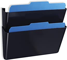 Officemate Wall File, Letter Size, Black, 2 Pack (21405)