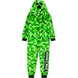 Minecraft Onesie Pixelated Creeper Sleepsuit Gamer Gift para niños