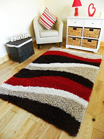 RED BROWN CREAM SHAGGY RUGS NEW SMALL LARGE THICK 5CM PILE HEIGHT RUNNERS  SOFT SHAG RUG  120 X 170 CM   Amazon co uk  Kitchen   Home. RED BROWN CREAM SHAGGY RUGS NEW SMALL LARGE THICK 5CM PILE HEIGHT